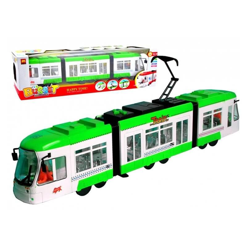 Τραμ με κίνηση, φώτα και ήχους πράσινο
