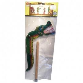 Φιγούρα Καραγκιόζη - Φίδι με ξύλινη Λαβή