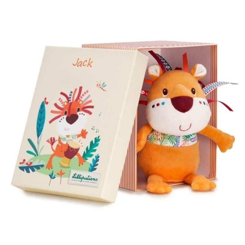 Τζακ το Λιονταράκι Λούτρινο σε Κουτί Δώρου
