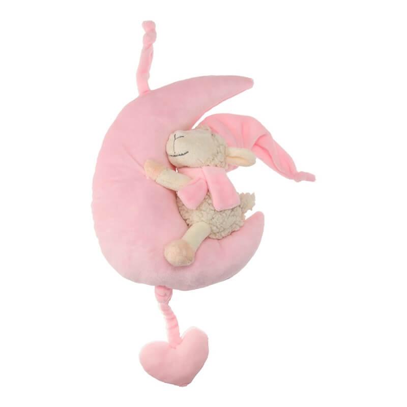 Μουσικό Αρνάκι Φεγγαράκι Νανουρίσματος Ροζ